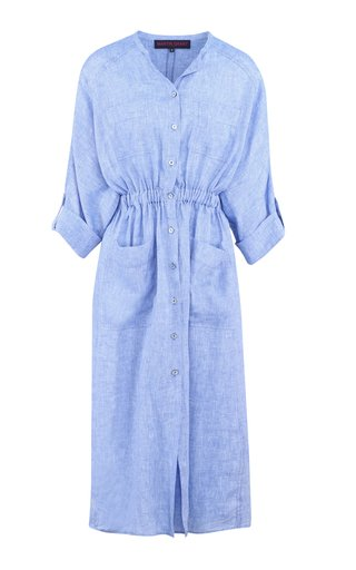 Oversized Linen Shirt Dress