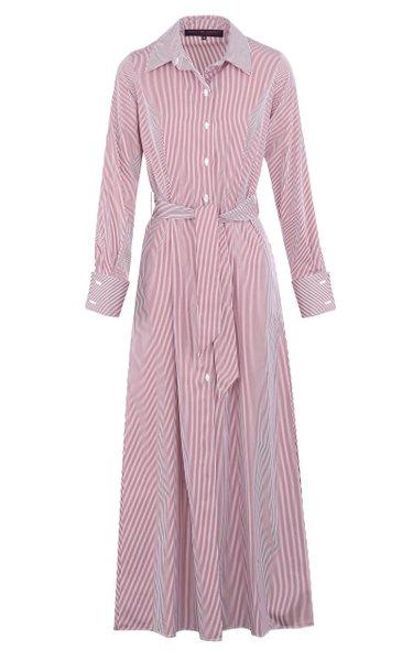 Striped Cotton Poplin Maxi Shirt Dress
