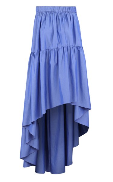 Tiered Cotton Strapless Parachute Dress