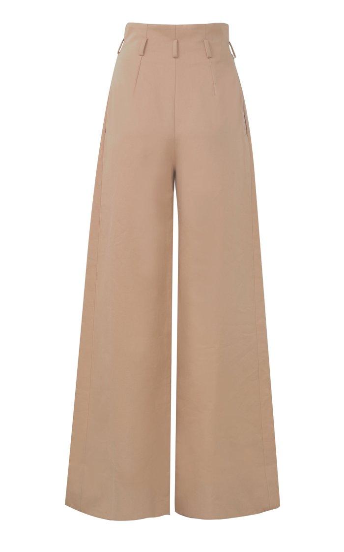 Paperbag-Waist Cotton Pants