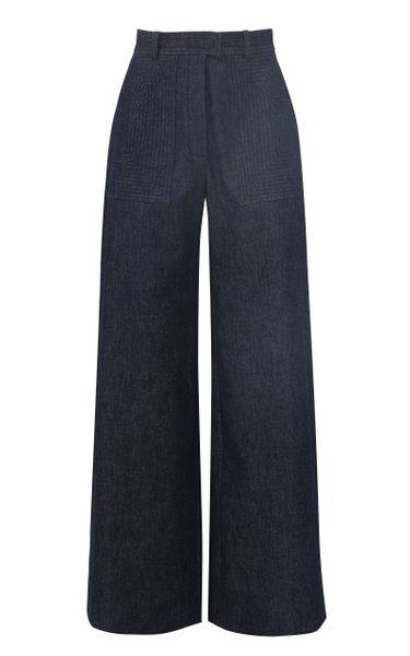 Rigid High-Waist Wide-Leg Jeans