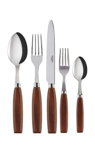 Djembe Wood Five-Piece Silverware Set
