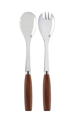 Djembe Wood Two-Piece Salad Set