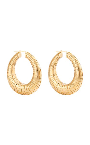 Geena Gold-Plated Brass Hoops