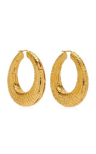 Geena Gold-Plated Hoop Earrings