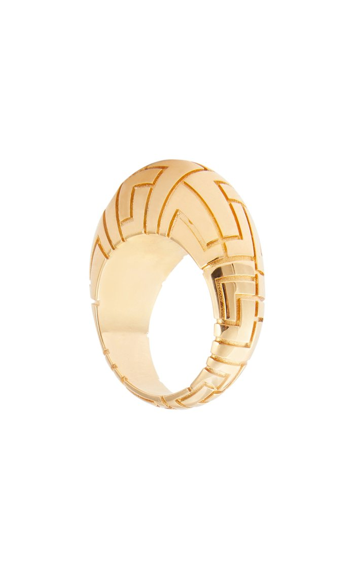 Geena Gold-Plated Brass Ring