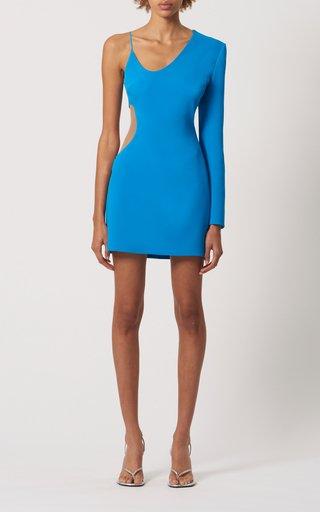 Cutout Mesh Mini Dress