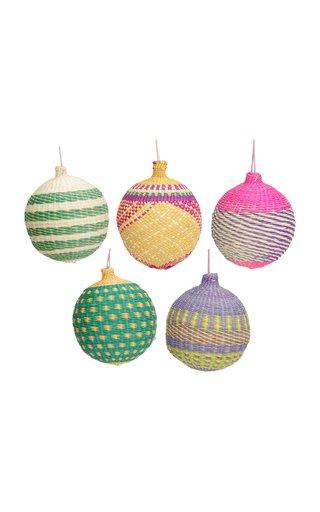 Set Of 5 Christmas Balls Ornaments