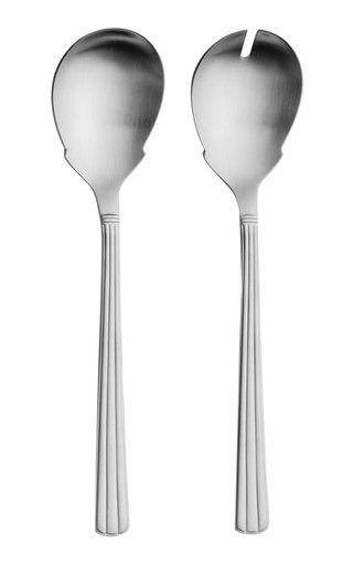 Athena Stainless Steel Two-Piece Salad Set