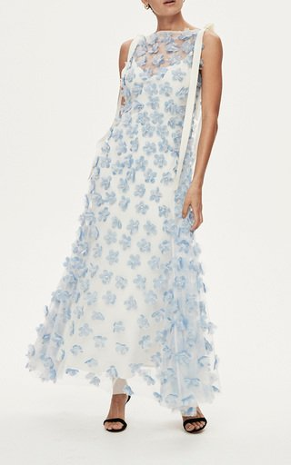 Tommy Embellished Organza Gown