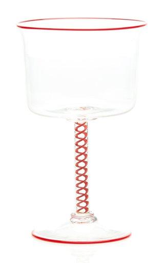 Spiral Stemmed Glass