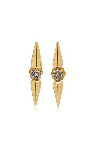 Shirley 18K Yellow Gold Diamond Earrings