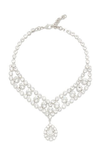 Crystal-Embellished Silver-Tone Necklace