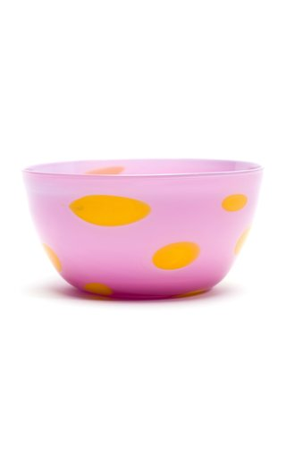 Two-Tone Spotted Glass Bowl