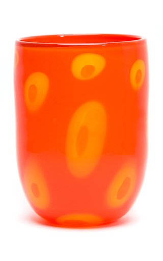 Bi-Colored Spotted Glass Vase