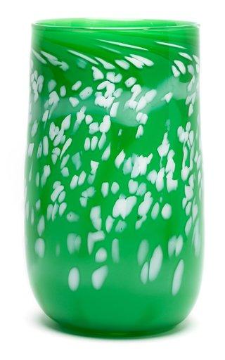 Spotted Cylinder Glass Vase