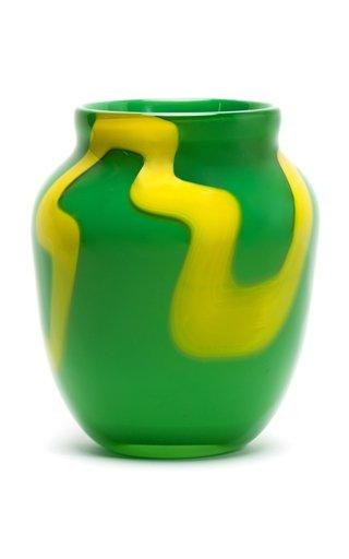 Stroke Bi-Color Glass Vase