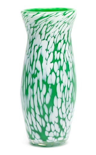 Spotted Contemporary Glass Vase