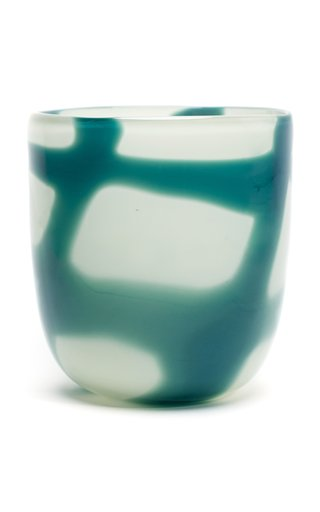 Stroke Checkered Glass Vase