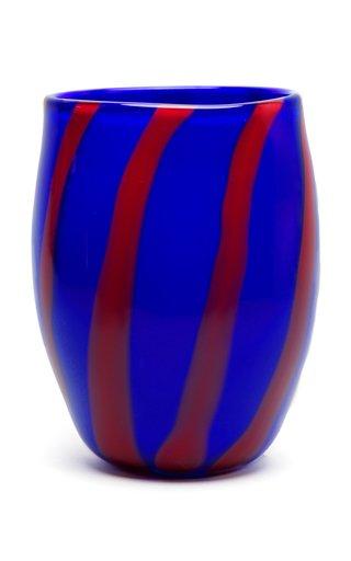 Striped Glase Vase