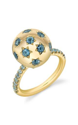 Ethel 18K Yellow Gold Aquamarine Ring