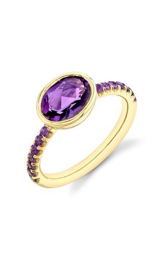 Shirley 18K Yellow Gold Amethyst Ring
