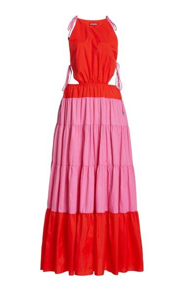 Minerva Two-Tone Shell Maxi Dress