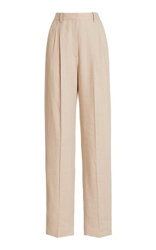 Cosmos High-Rise Linen-Blend Pants