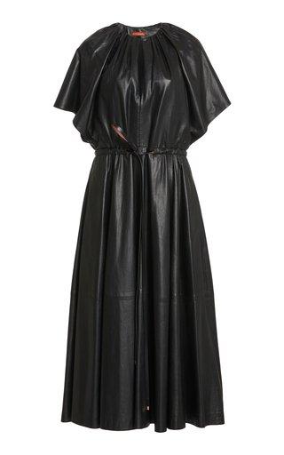Romy Leather Midi Dress
