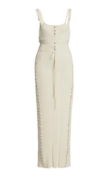 Dianella Button-Detailed Knit Midi Dress