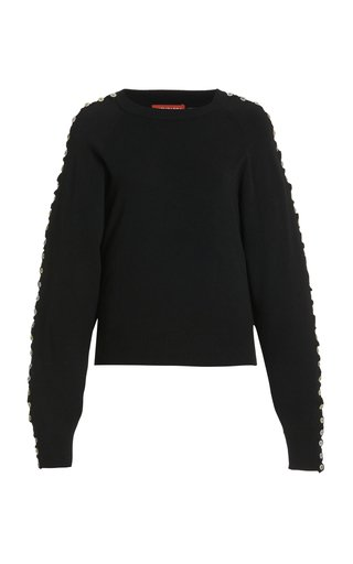 Thallo Button-Trimmed Knit Sweater
