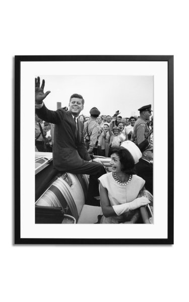 The Kennedys Riding in Car Framed Print