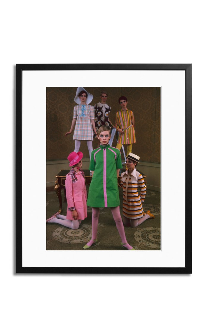 Twiggy's Fashion Show Framed Print Photograph