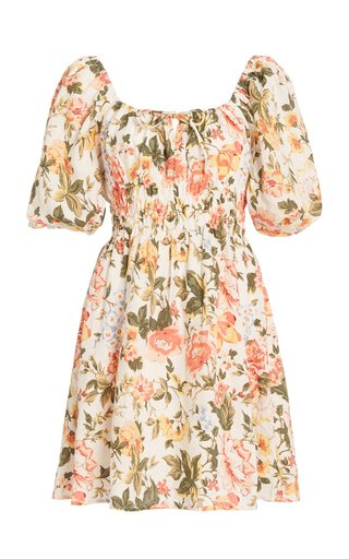Nikoleta Floral Linen Mini Dress