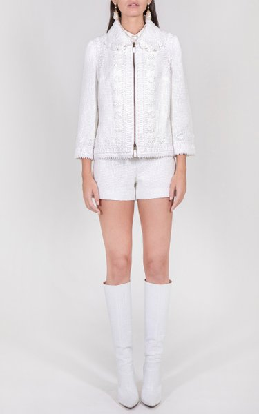 Embroidered Cotton-Blend Jacket