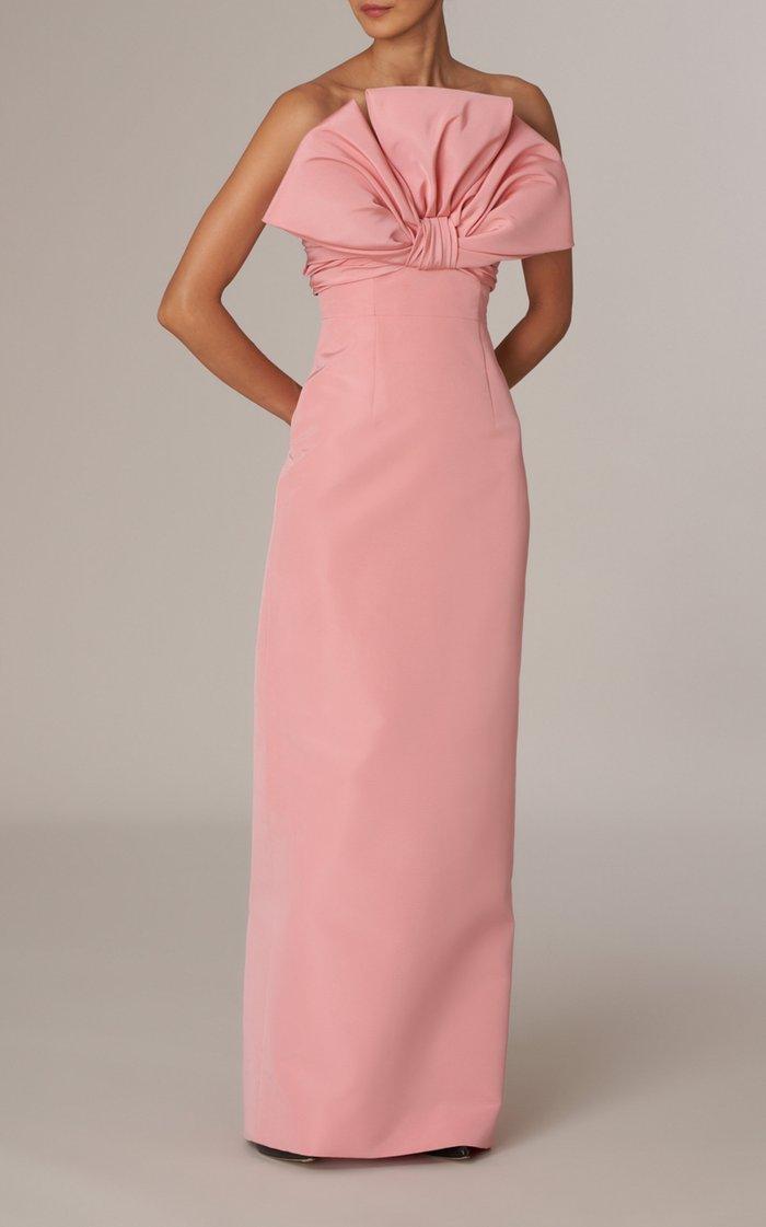 Dramatic Bow Silk Faille Gown