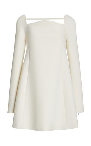 Double-Faced Wool Mini Shift Dress