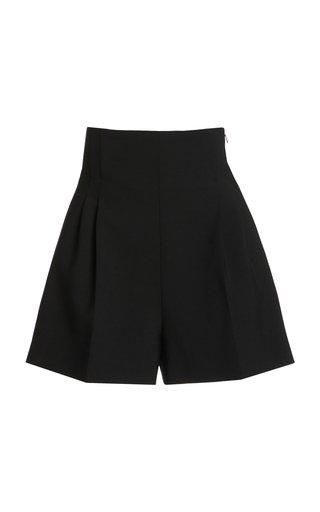 Stretch-Cotton Twill High-Rise Shorts