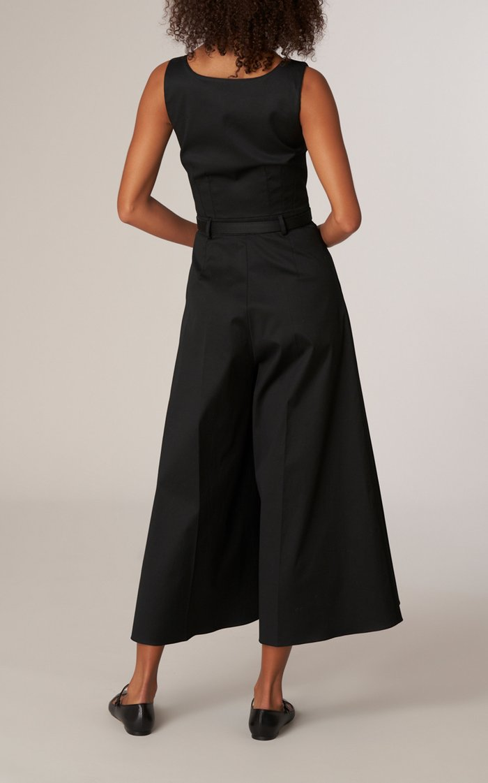 Stretch Cotton Twill Jumpsuit
