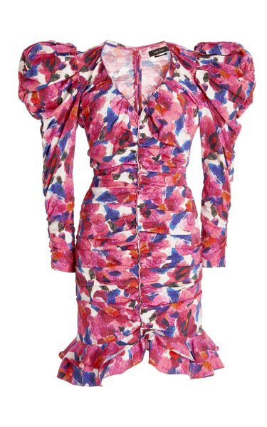 Mireya Printed Jersey Mini Dress