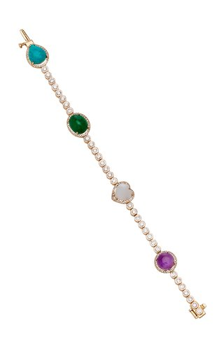 Bonita 14K Yellow Gold Multi-Stone Bracelet