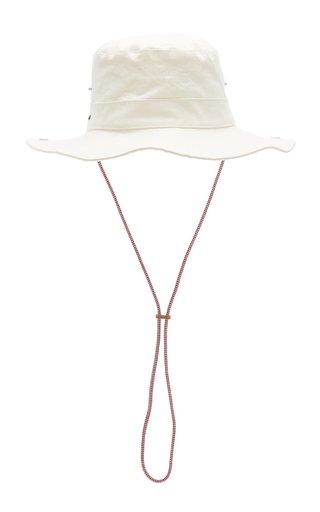 Caviano Linen-Blend Bucket Hat