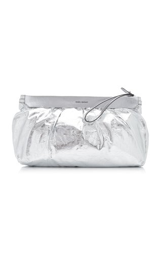 Luz Relaxed Metallic Leather Clutch
