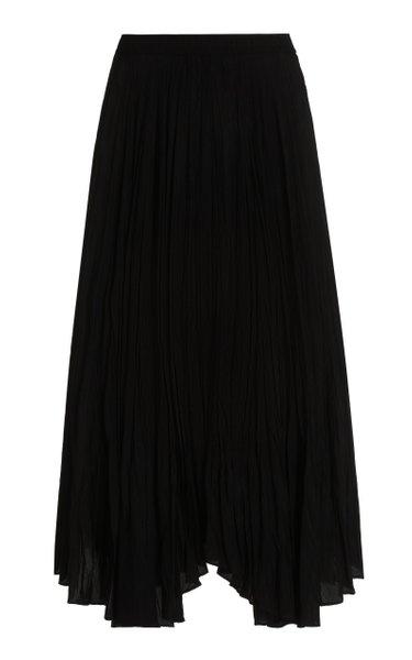 Sully Asymmetric Silk Habotai Maxi Skirt
