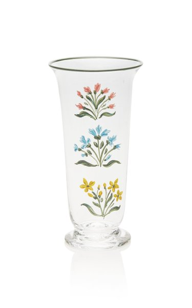 Exclusive Painted Murano Flute Glass