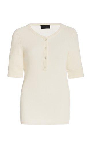 Willow Wool-Silk-Cashmere Henley Top