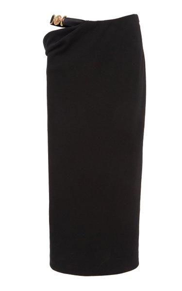 Cutout Linen-Blend Medusa Skirt