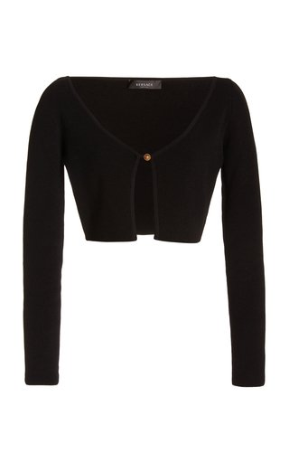Cropped Ribbed-Knit Cardigan