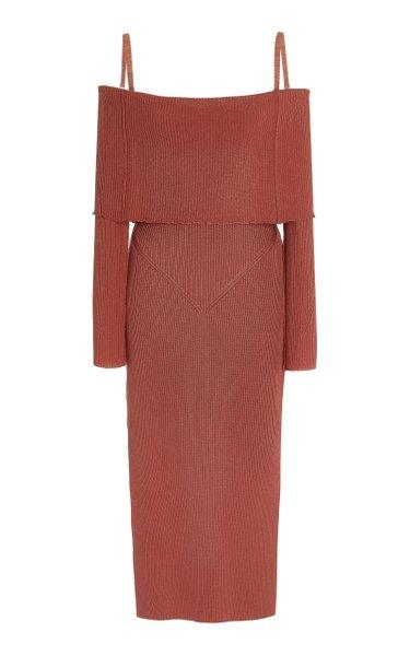 Vika Off-The-Shoulder Knit Midi Dress