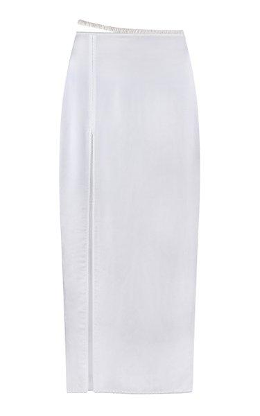 Arina Satin Midi Skirt